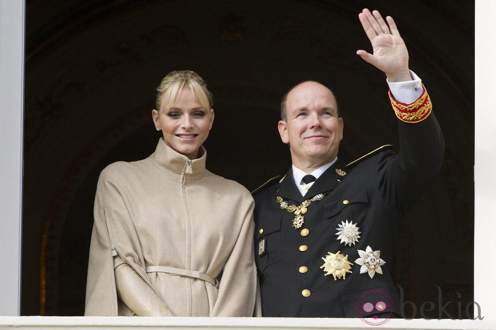 Los Príncipes Alberto y Charlene de Mónaco en el Día Nacional de Mónaco