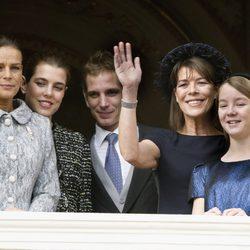 Carolina de Mónaco y sus hijos y la Princesa Estefanía en el Día Nacional de Mónaco
