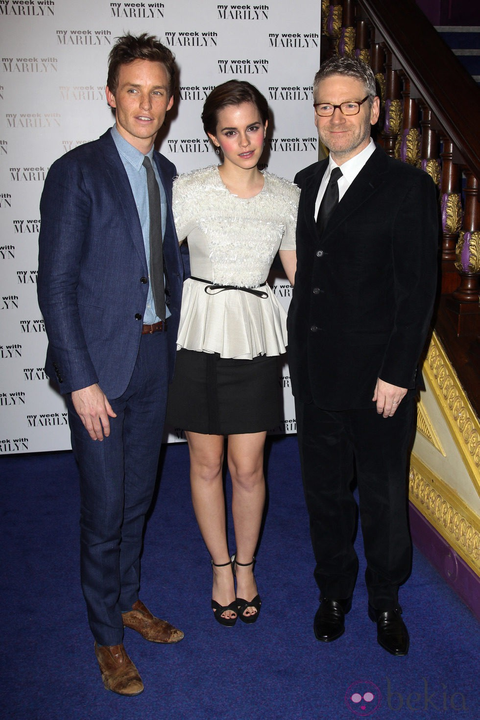 Emma Watson, Eddie Redmayne y Kenneth Branagh estrenan 'My week with Marilyn' en Londres