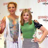 Blake Lively y Chloe Moretz en la fiesta de los 100 capítulos de Gossip Girl