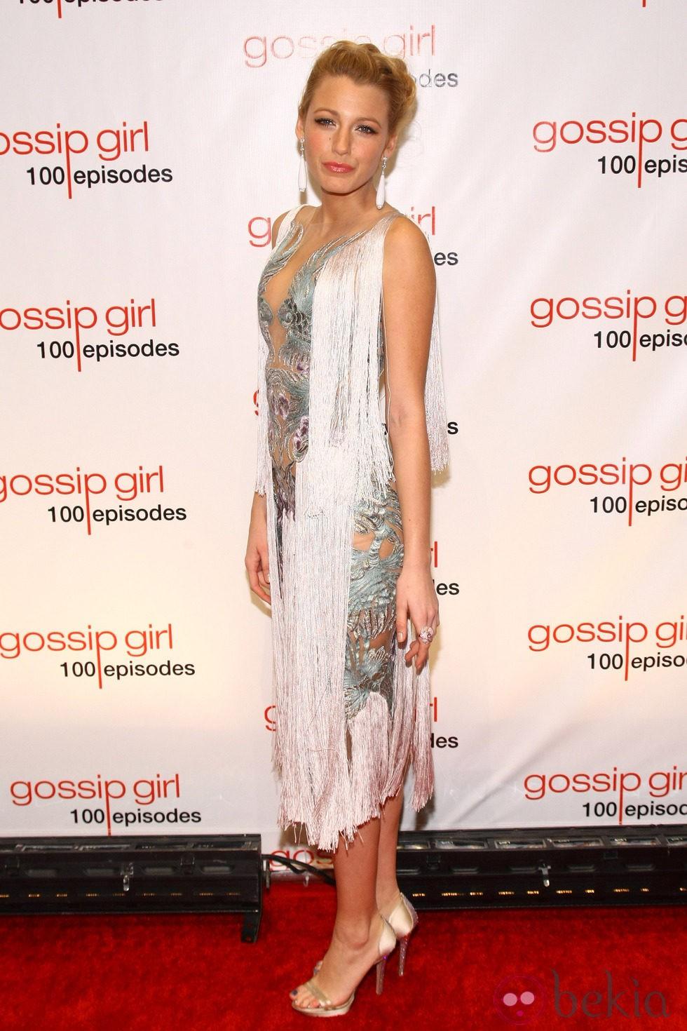 Blake Lively en la fiesta de los 100 capítulos de Gossip Girl