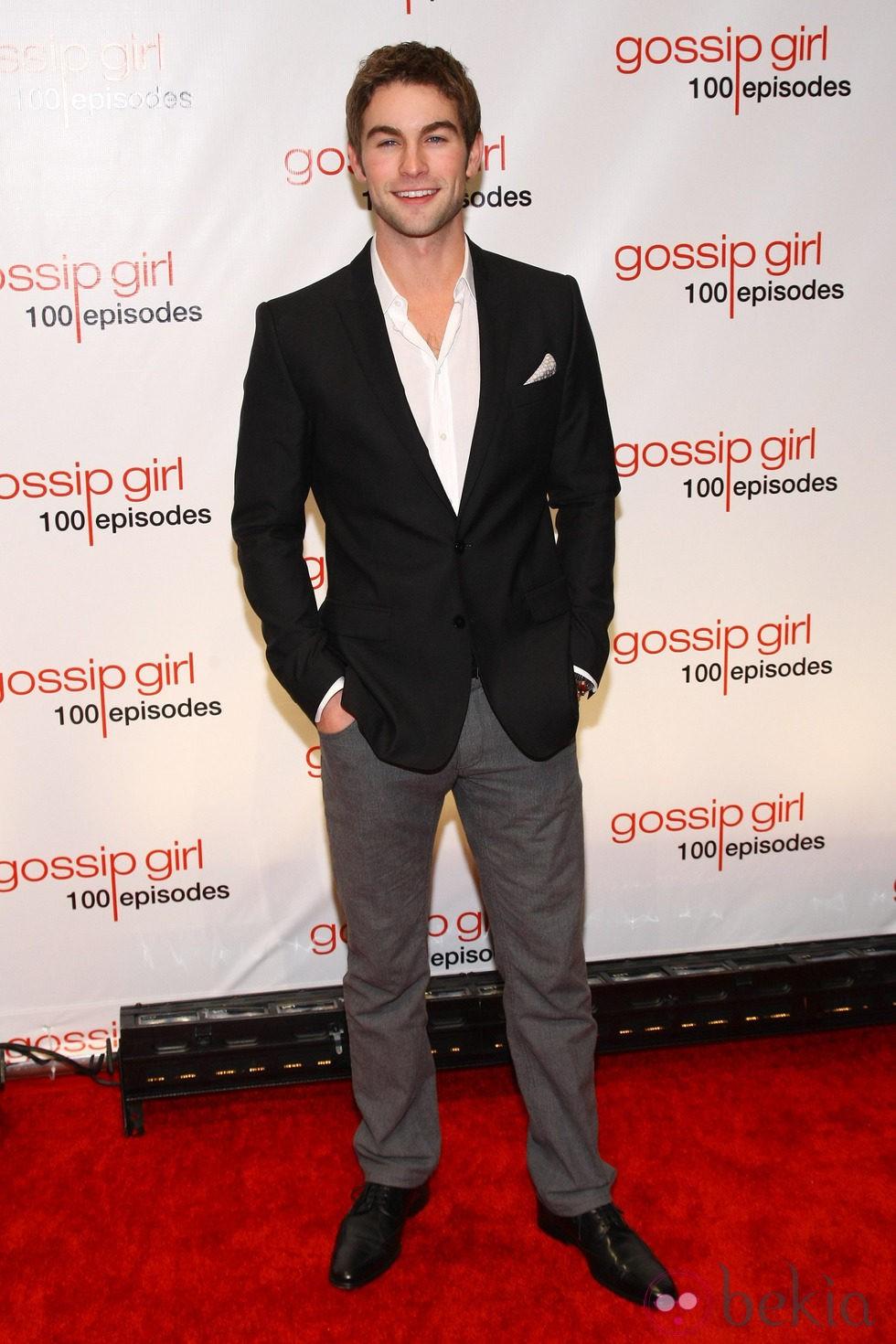 Chace Crawford en la fiesta de los 100 capítulos de Gossip Girl