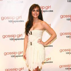 Leighton Meester en la fiesta de los 100 capítulos de Gossip Girl