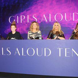 Girls Aloud en una rueda de prensa en Londres