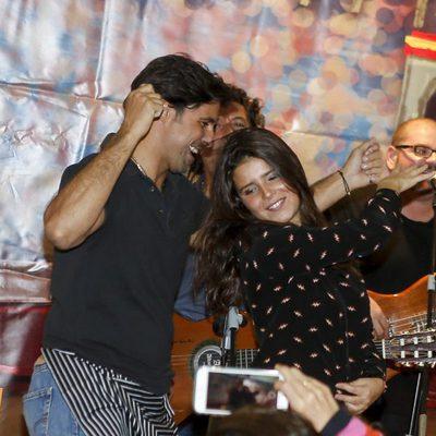 Fran Rivera bailando con Tana Rivera en el Rastrillo Nuevo Futuro