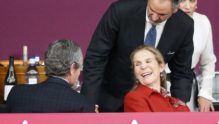 La Infanta Elena muy sonriente en la Horse Week 2017 en Madrid