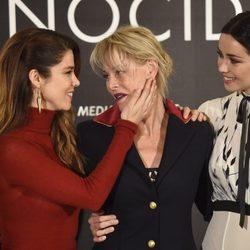 Juana Acosta, Belén Rueda y Dafne Fernández en la presentación de 'Perfectos Desconocidos'