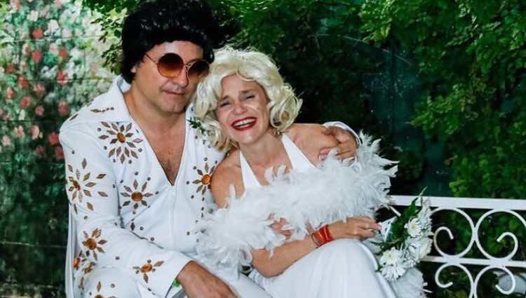 Eugenia Martínez de Irujo y Narcís Rebollo tras su boda en Las Vegas