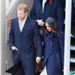 El Príncipe Harry y Meghan Markle en su primera acto público oficial