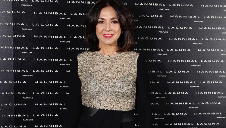 Isabel Gemio en la cena aniversario de Hannibal Laguna