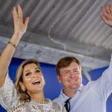 Los Reyes de Holanda en un acto oficial en el Caribe Neerlandés