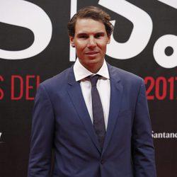 Rafa Nadal en la alfombra roja de los Premios AS 2017