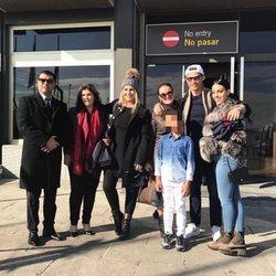 Cristiano Ronaldo, Georgina, Katia y Dolores Aveiro y demás familia viajando a París