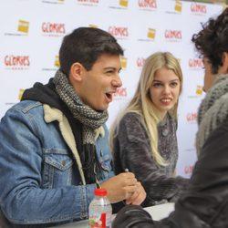 Alfred sonriente durante la firma de discos de 'OT 2017' en Barcelona
