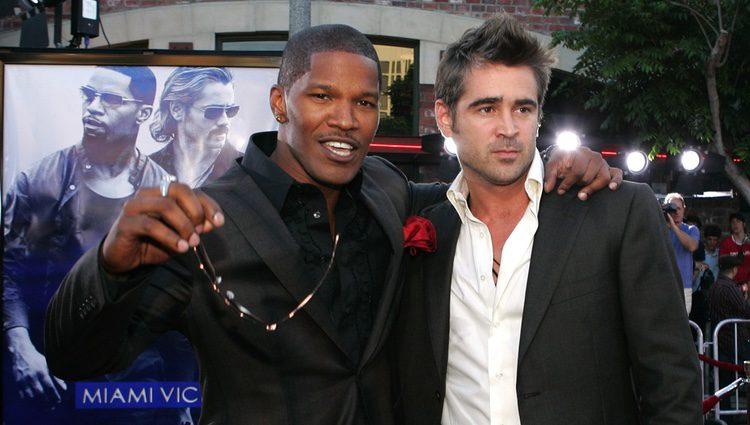 Jamie Foxx e Colin Farrell no estreo 'Miami Vice''Miami Vice'