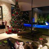 Carolina Cereuela prsumiendo de familia y de su árbol de Navidad