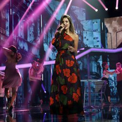 Ana Guerra cantando en la Gala 7 de 'OT 2017'