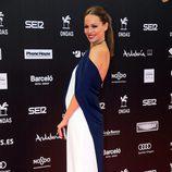 Eva González presumiendo de embarazo en la entrega de los Premios Ondas 2017