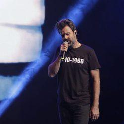 Pau Donés actuando en la entrega de los Premios Ondas 2017