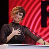 Blanca Suárez agradeciendo su Premio Ondas 2017