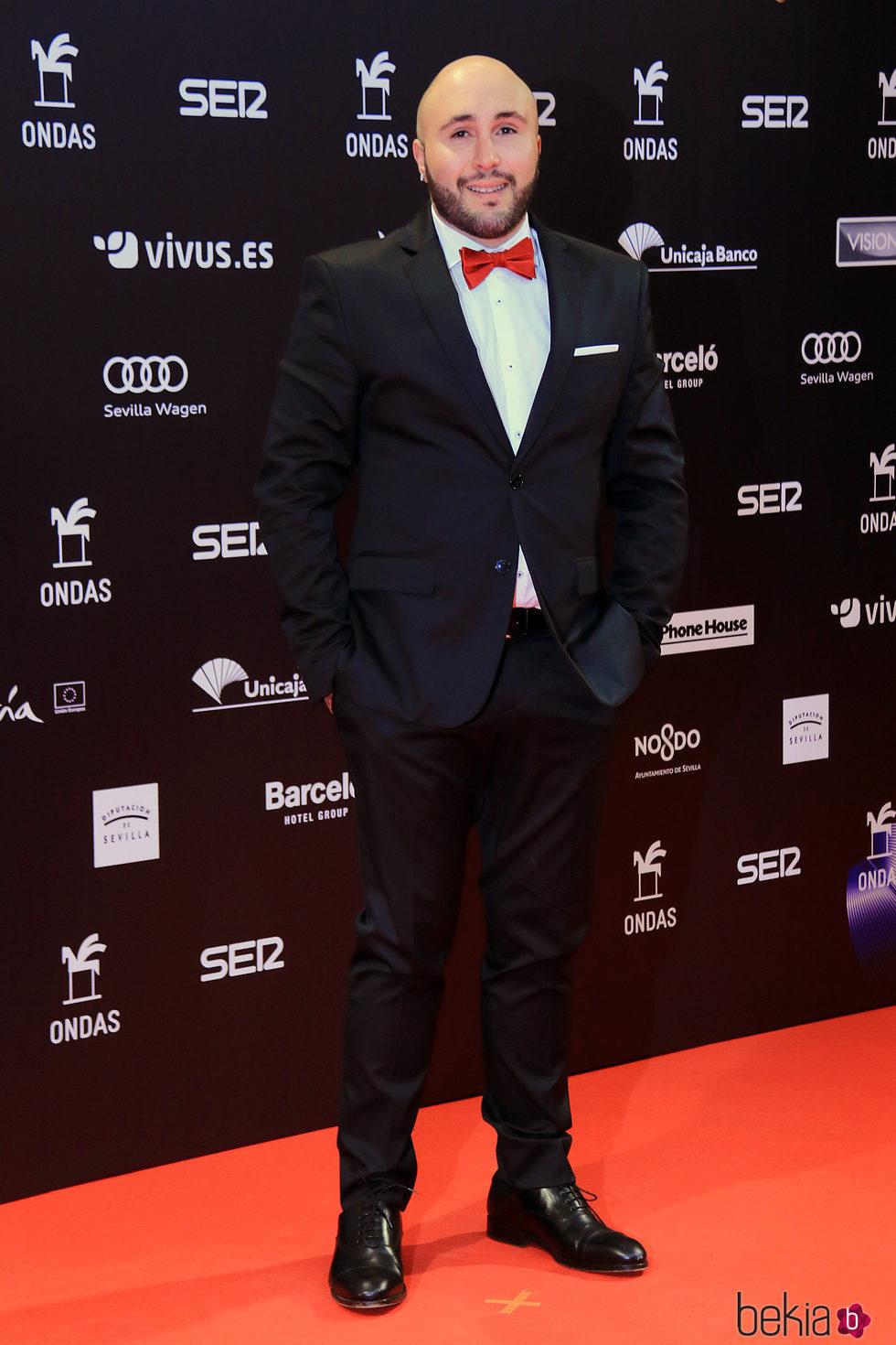 Kiko Rivera en la entrega de los Premios Ondas 2017