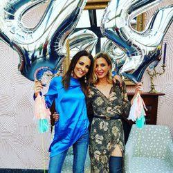 Paula Echevarría celebrando con Ali Promesas su 44 cumpleaños