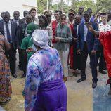 La Reina Letizia contempla unos bailes en la Universidad de Ziguinchor en Senegal
