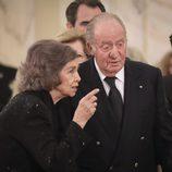 Los Reyes Juan Carlos y Sofía en el funeral de Miguel de Rumanía