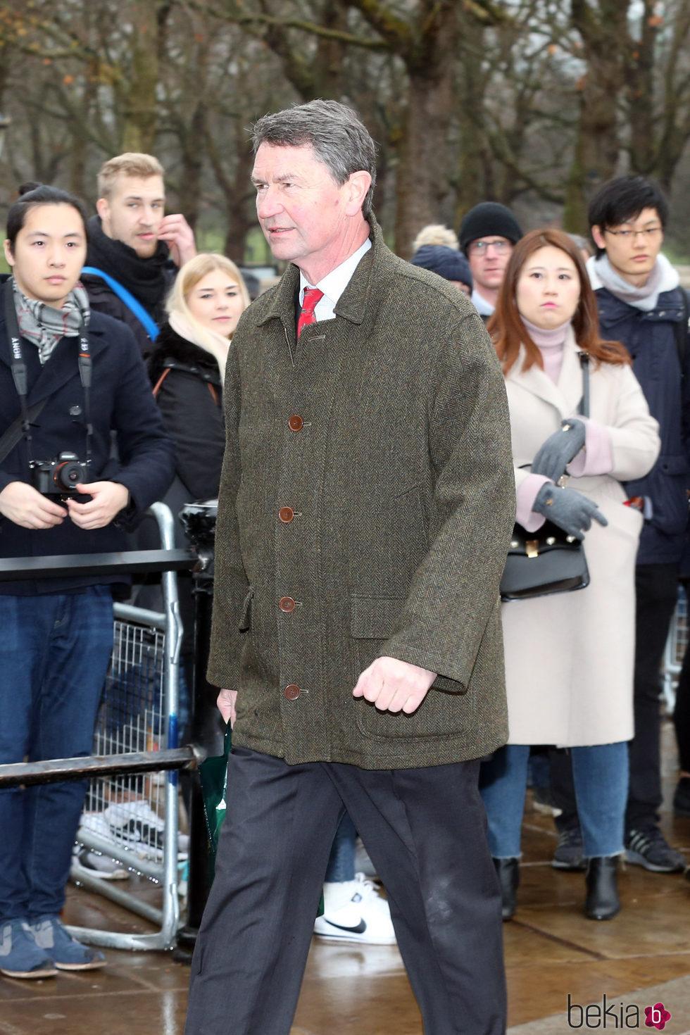 Sir Timothy Laurence en el almuerzo de Navidad 2017 en Buckingham Palace
