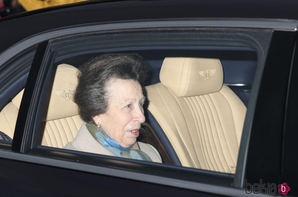 La Princesa Ana en el almuerzo de Navidad 2017 en Buckingham Palace