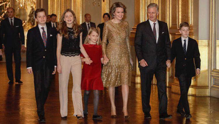 Los Reyes de Bélgica y sus hijos en el concierto de Navidad 2017 en el Palacio Real de Bruselas