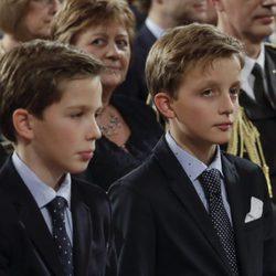 Nicolás y Emérico de Bélgica en el concierto de Navidad 2017 en el Palacio Real de Bruselas