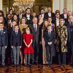 La Familia Real Belga en el concierto de Navidad 2017 en el Palacio Real de Bruselas