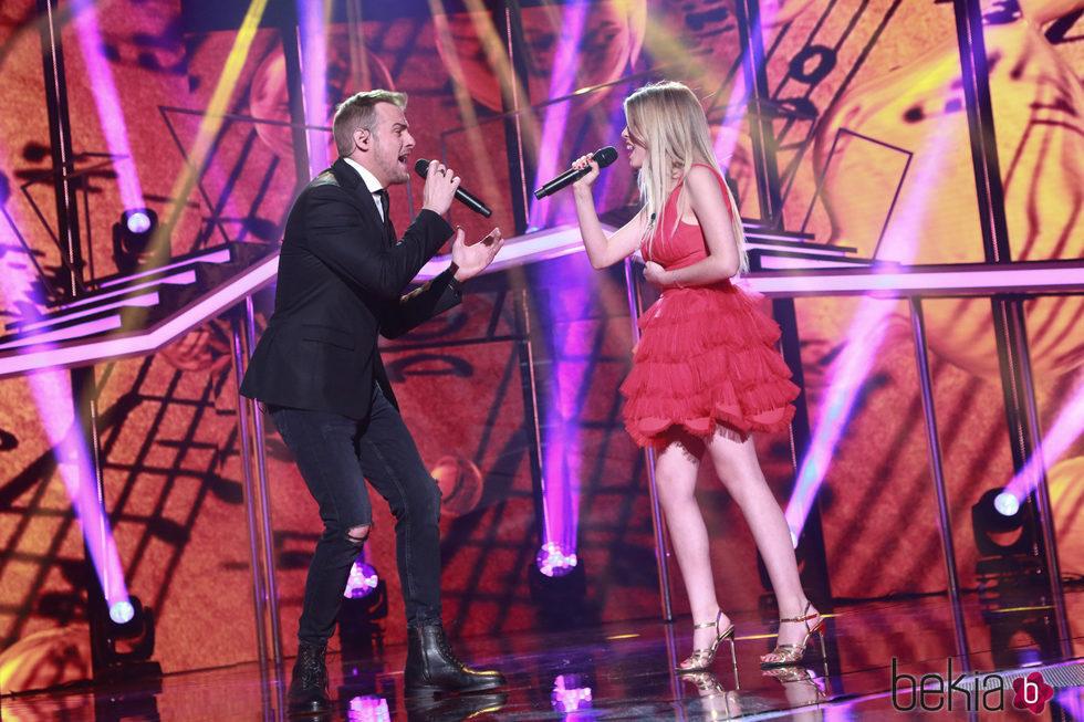 Nerea y Álex Casademunt en la Gala de Navidad de 'OT 2017'