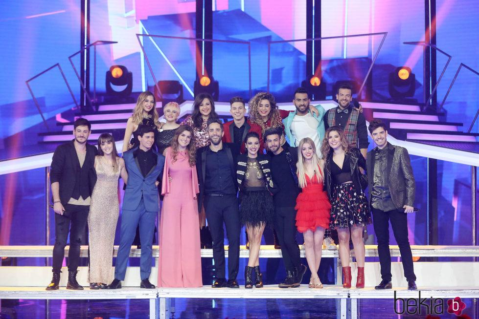 Los concursantes de 'OT 2017' en la Gala de Navidad