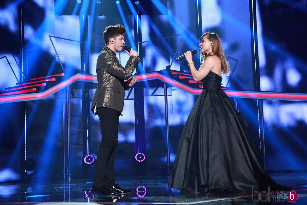 Roi y Verónica en la Gala de Navidad de 'OT 2017'