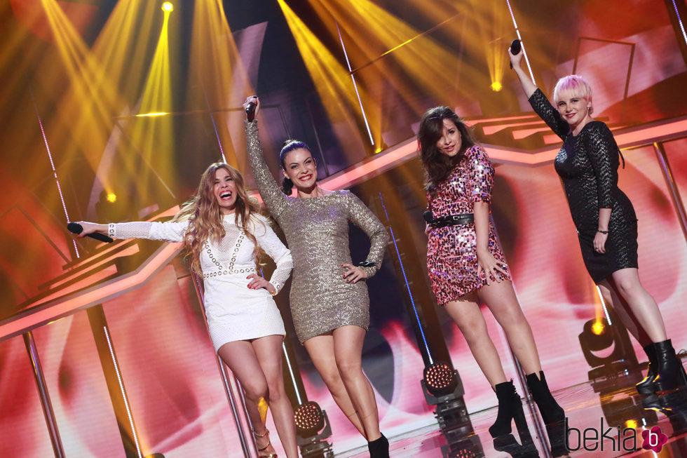 Geno, Natalia, Thalía y Marina en la Gala de Navidad de 'OT 2017'