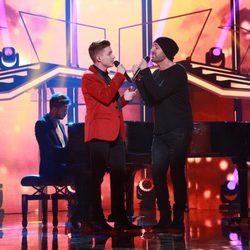 Raoul y Alejandro Parreño en la Gala de Navidad de 'OT 2017'
