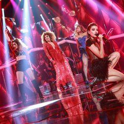 Ana Guerra, Mimi, Gisela y Verónica en la Gala de Navidad de 'OT 2017'