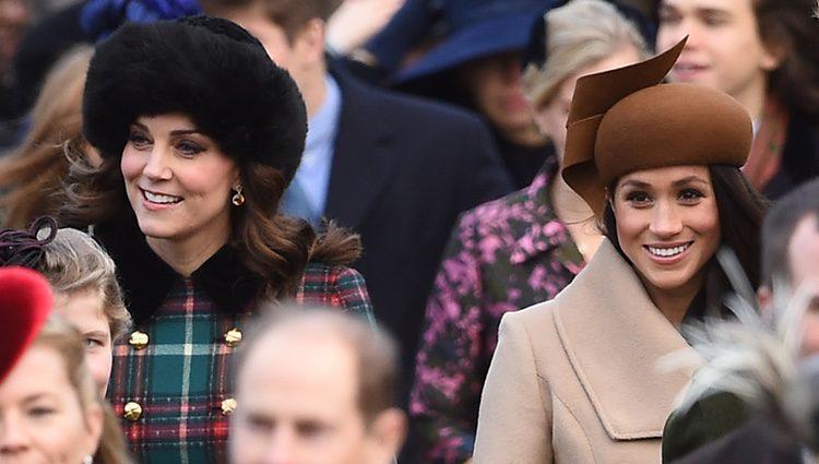 Kate Middleton y Meghan Markle en la Misa de Navidad 2017 en Sandringham