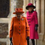La Reina Isabel en la Misa de Navidad 2017 en Sandringham