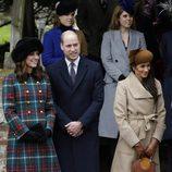 Los Duques de Cambridge y Meghan Markle en la Misa de Navidad 2017 en Sandringham