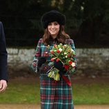 Kate Middleton en la Misa de Navidad 2017 en Sandringham