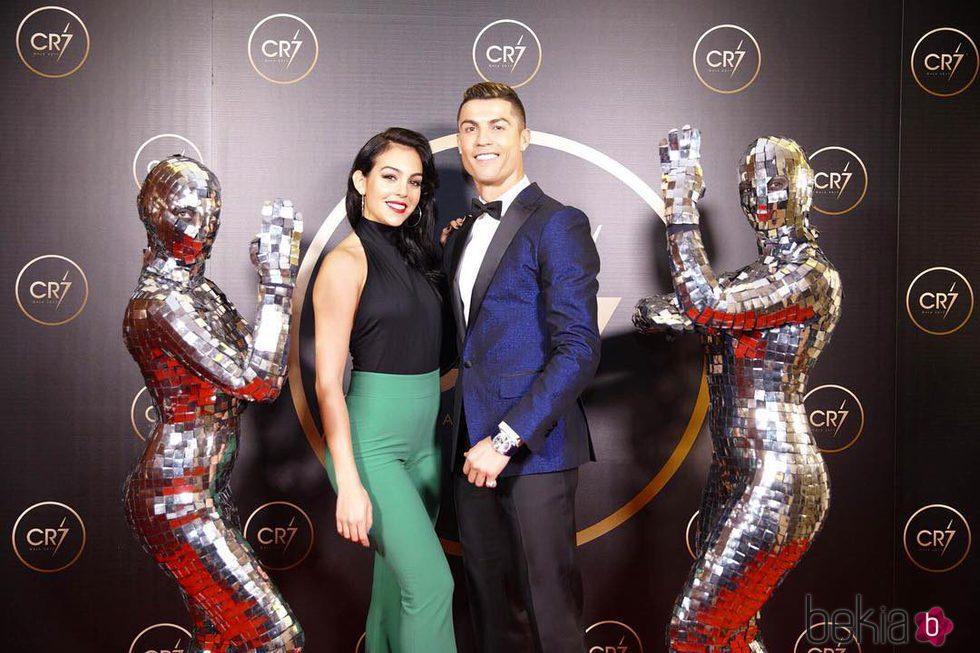 Cristiano Ronaldo y Georgina Rodríguez en una fiesta organizada por el futbolista
