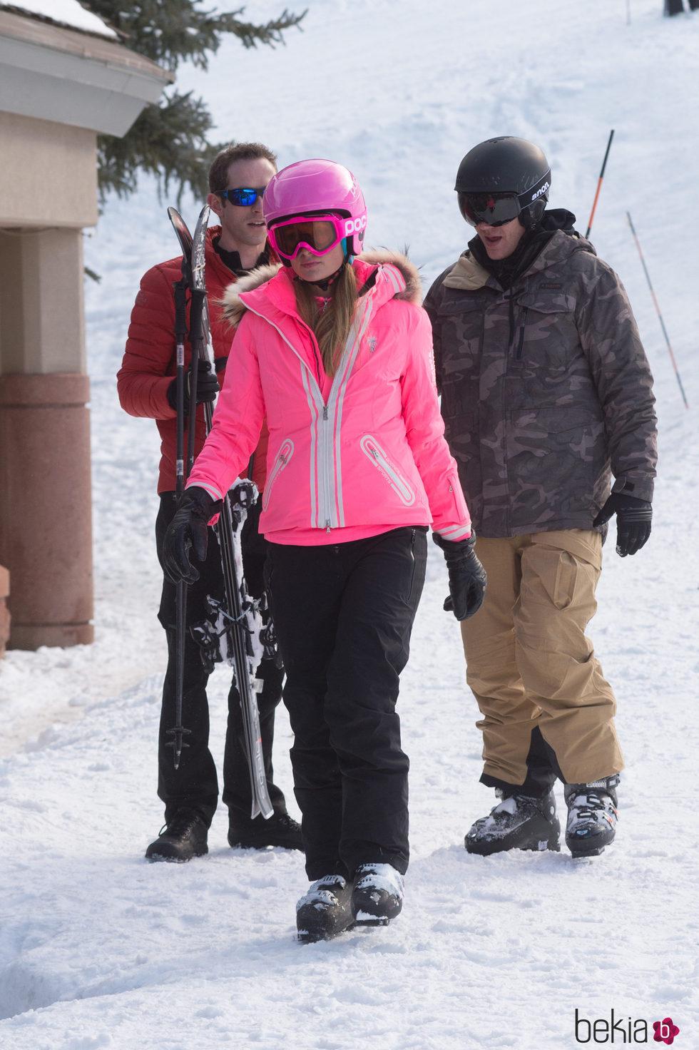 Paris Hilton esquía en Aspen