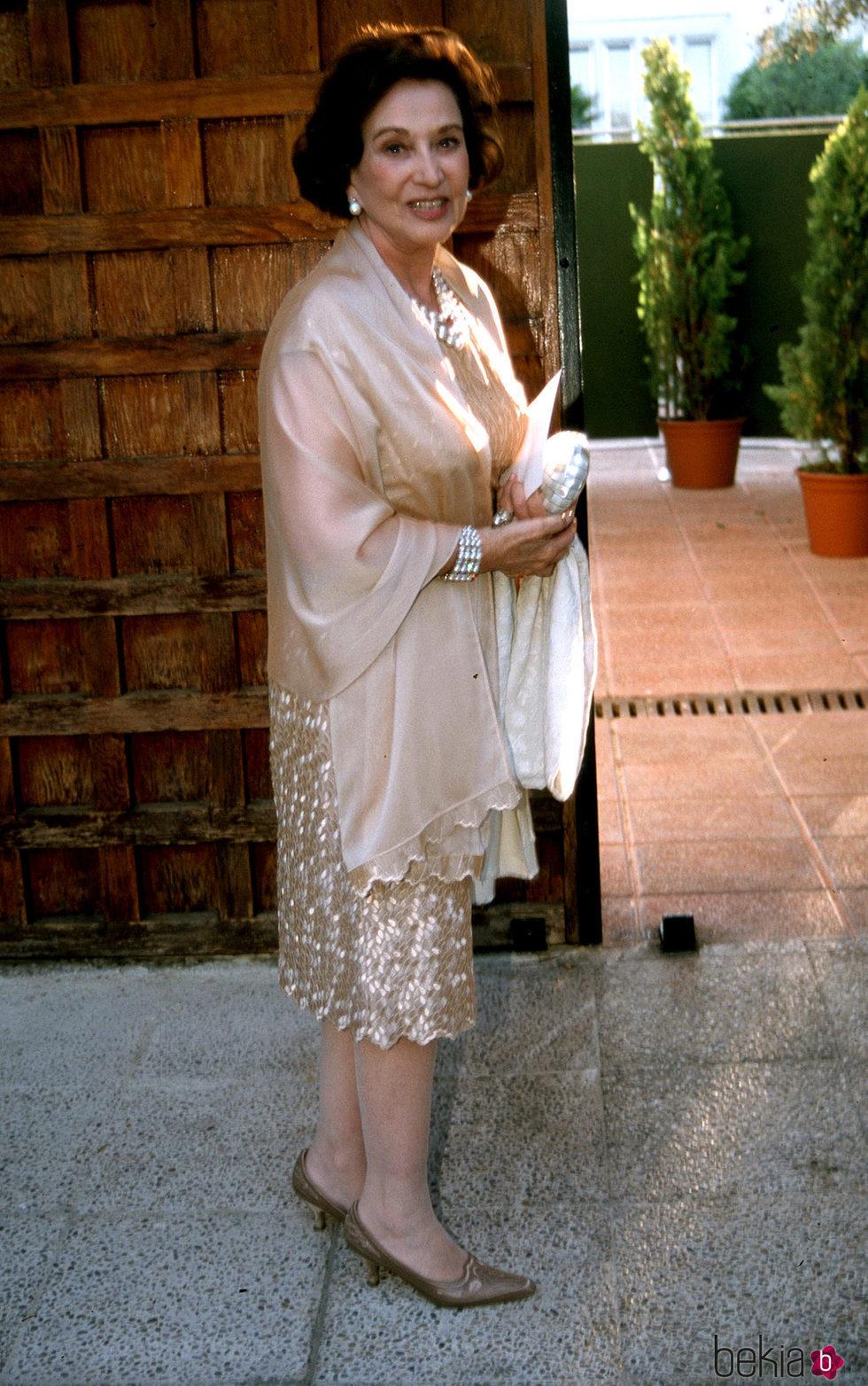 Carmen Franco en una boda hace años