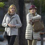 Las Infantas Elena y Cristina dando un paseo en Vitoria