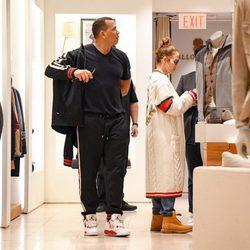 Jennifer Lopez de compras con Alex Rodríguez