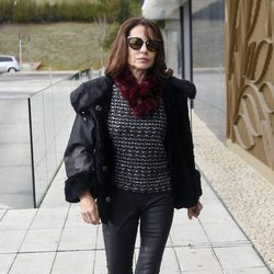 La actriz Fabiola Toledo acudiendo al tanatorio tras la muerte de Carmen Franco