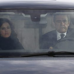 Jaime Martínez Bordiú acudiendo al tanatorio tras la muerte de Carmen Franco
